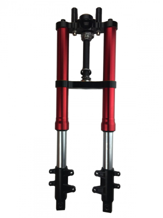 Shock Breaker SHOCK UPSIDE DOWN + SEGITIGA 2 TONE CNC VIXION  1 shock_scarlet_upside_down_segitiga_2tone_cnc_red