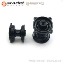 Scarlet Racing  Tromol Depan Belakang KLX 36 Hole Plus Bearing Full CNC BLACK