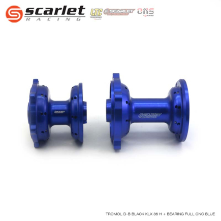 Scarlet MX-Series Scarlet Racing - Tromol Depan Belakang KLX 36 Hole Plus Bearing Full CNC BLUE  4 tromol_d_b_black_klx_36_h_bearing_full_cnc_blue_04