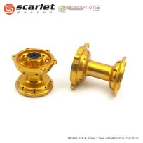 Scarlet Racing  Tromol Depan Belakang KLX 36 Hole Plus Bearing Full CNC Gold